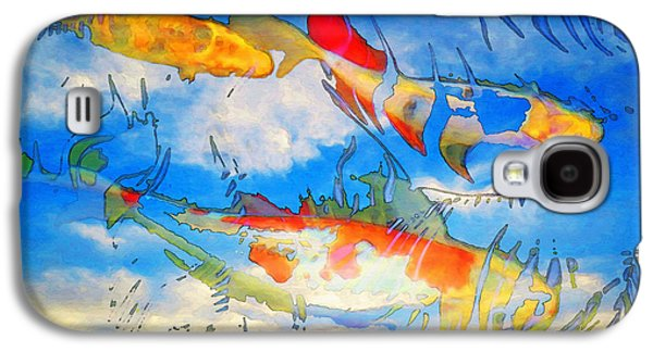 Life Is But A Dream - Koi Fish Art Galaxy S4 Case by Sharon Cummings