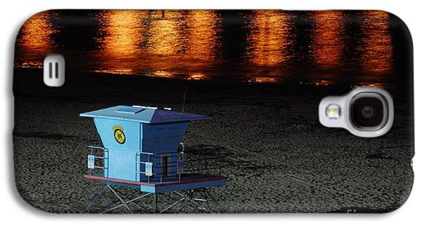 Lifeguard Station At Night Galaxy S4 Case by Debra Thompson