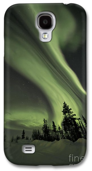Light Swirls Over The Midnight Dome Galaxy S4 Case by Priska Wettstein