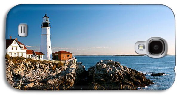 Lighthouse On The Coast, Portland Head Galaxy S4 Case by Panoramic Images