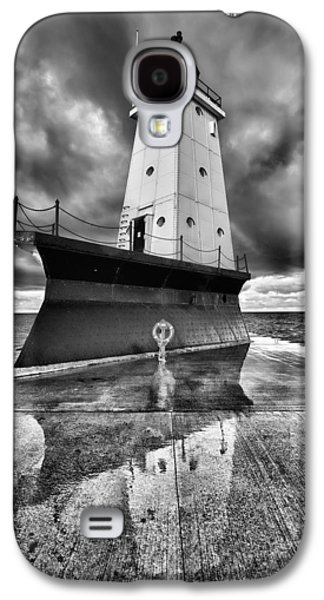 Lighthouse Reflection Black And White Galaxy S4 Case