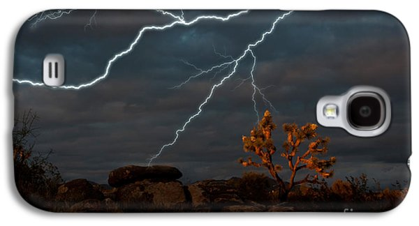 Lightning, Joshua Tree Highway Galaxy S4 Case by Mark Newman