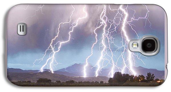 Lightning Striking Longs Peak Foothills 4c Galaxy S4 Case