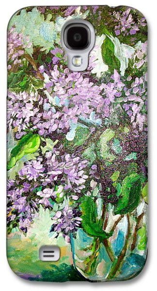 Lilacs Galaxy S4 Case by Carol Mangano