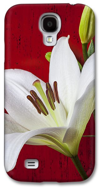 Lily Against Red Wall Galaxy S4 Case