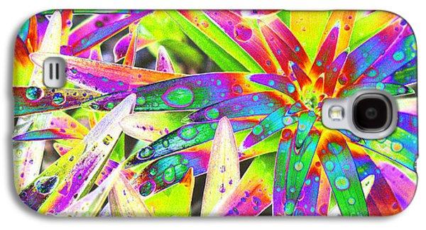 Lily Leaves Raindrops Galaxy S4 Case by Carol Lynch