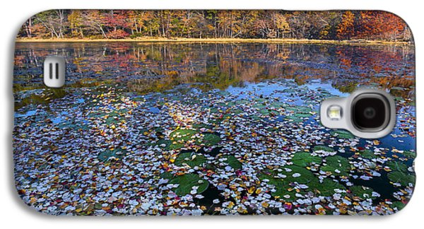 Lily Pads And Autumn Leaves Galaxy S4 Case by Tim Fitzharris