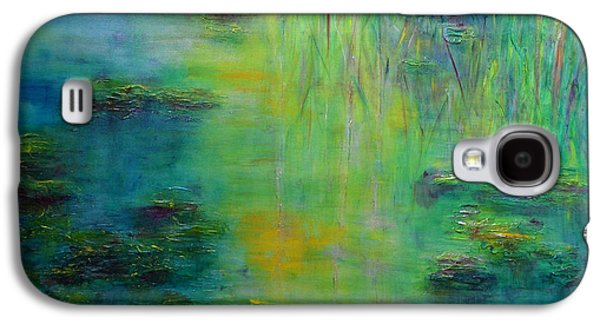 Lily Pond Tribute To Monet Galaxy S4 Case by Claire Bull