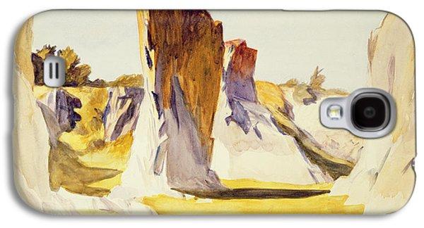 Lime Rock Quarry II Galaxy S4 Case by Edward Hopper