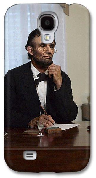 Lincoln At His Desk 2 Galaxy S4 Case
