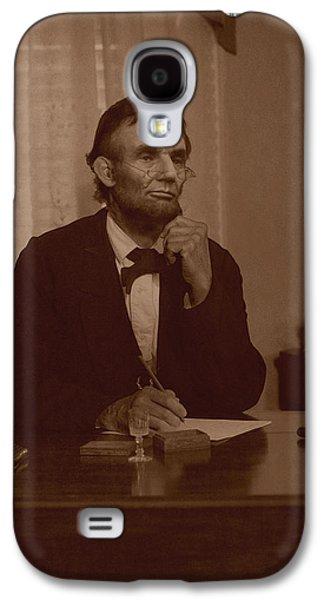 Lincoln At His Desk Galaxy S4 Case