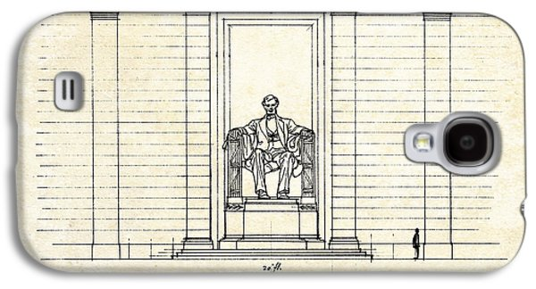 Lincoln Memorial Sketch Galaxy S4 Case by Gary Bodnar