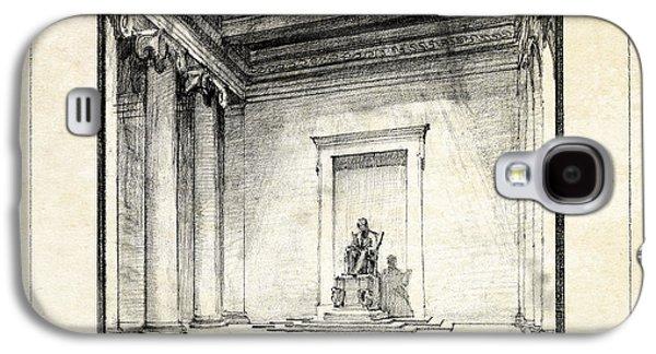 Lincoln Memorial Galaxy S4 Case - Lincoln Memorial Sketch IIi by Gary Bodnar
