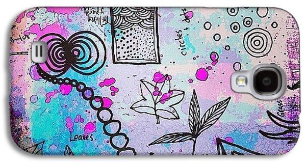 Design Galaxy S4 Case - #line #color #shape #design #doodles by Robin Mead