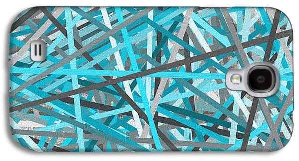 Link - Turquoise And Gray Abstract Galaxy S4 Case