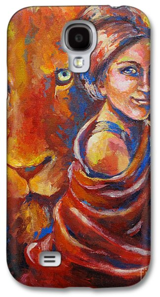 Lion Covering Galaxy S4 Case by Tamer and Cindy Elsharouni