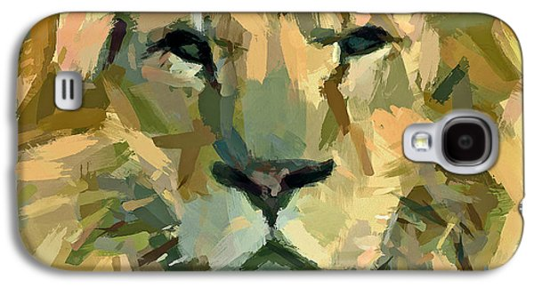 Lion Face Expression Galaxy S4 Case by Yury Malkov