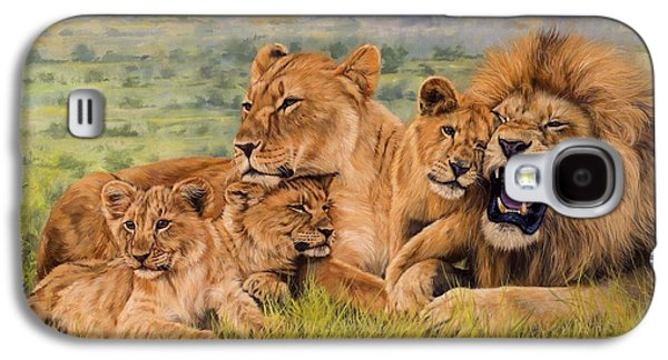 Lion Family Galaxy S4 Case by David Stribbling