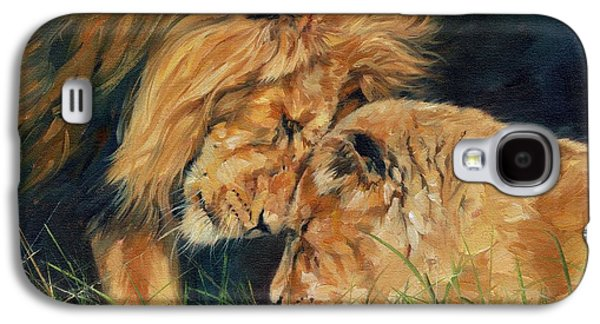 Lion  Love Galaxy S4 Case by David Stribbling