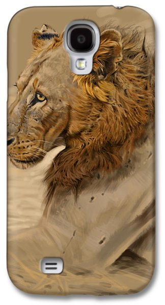 Lion Portrait Galaxy S4 Case by Aaron Blaise