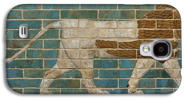Lion Relief From The Processional Way In Babylon Galaxy S4 Case by Babylonian