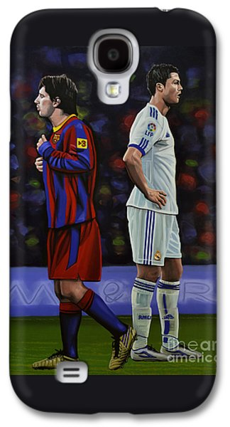 Sports Galaxy S4 Case - Lionel Messi And Cristiano Ronaldo by Paul Meijering