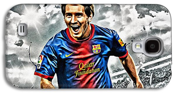 Lionel Messi Celebration Poster Galaxy S4 Case by Florian Rodarte