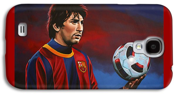 Sports Galaxy S4 Case - Lionel Messi 2 by Paul Meijering