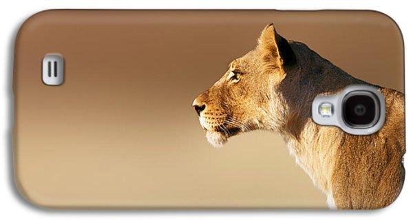 Lioness Portrait Galaxy S4 Case by Johan Swanepoel