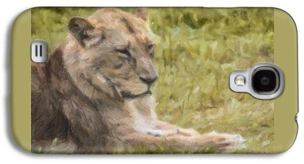 Lioness Resting Galaxy S4 Case by Liz Leyden