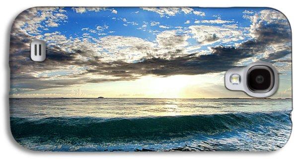 Blue Lava Galaxy S4 Case by Sean Davey