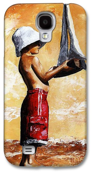 Little Boy In The Beach Galaxy S4 Case by Emerico Imre Toth