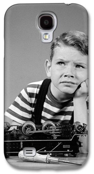 Little Boy With Broken Train, C.1930-40s Galaxy S4 Case