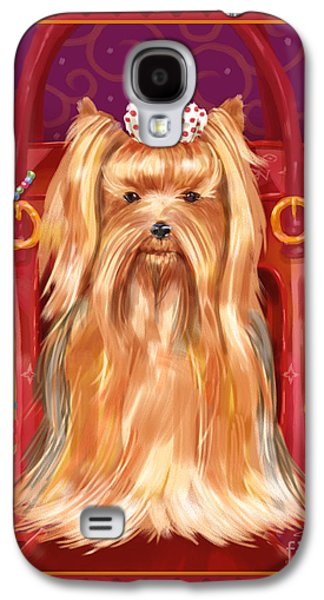 Little Dogs - Yorkshire Terrier Galaxy S4 Case by Shari Warren