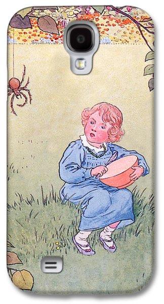Little Miss Muffet Galaxy S4 Case by Leonard Leslie Brooke