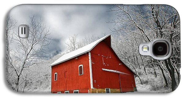 Little Red Barn Galaxy S4 Case by Todd Klassy