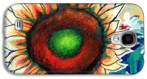 Little Sunflower Galaxy S4 Case by Genevieve Esson