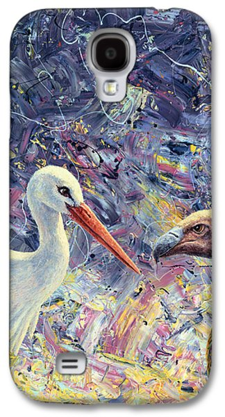 Living Between Beaks Galaxy S4 Case by James W Johnson