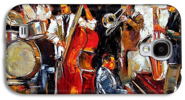 Trombone Galaxy S4 Case - Living Jazz by Debra Hurd
