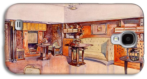 Living Room, 1905 Galaxy S4 Case by Alfred Grenander