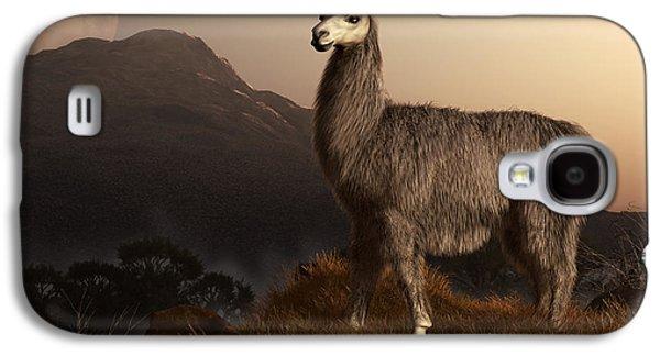 Llama Galaxy S4 Case - Llama Dawn by Daniel Eskridge