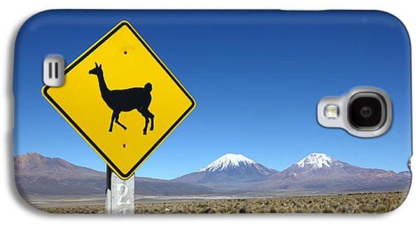 Llamas Crossing Sign Galaxy S4 Case by James Brunker