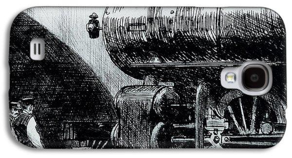 Locomotive Galaxy S4 Case by Edward Hopper