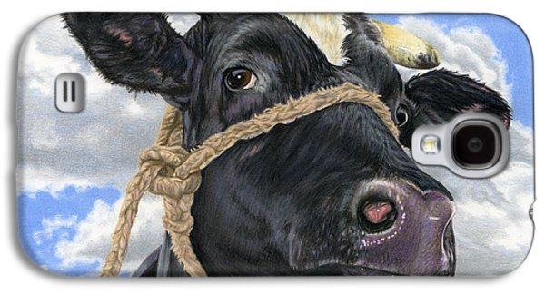 Cow Galaxy S4 Case - Lola by Sarah Batalka