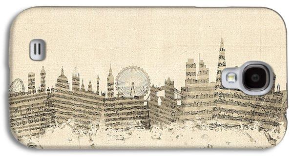 London England Skyline Sheet Music Cityscape Galaxy S4 Case by Michael Tompsett