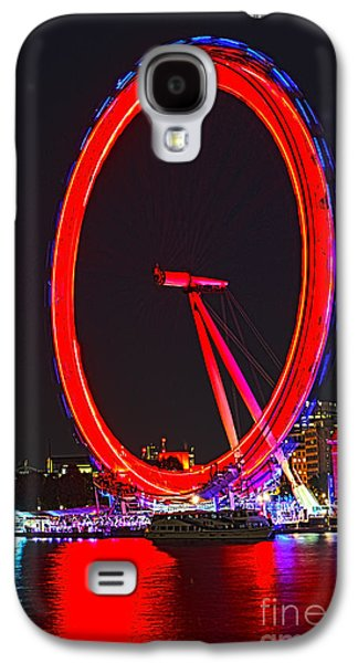 London Eye Red Galaxy S4 Case by Jasna Buncic