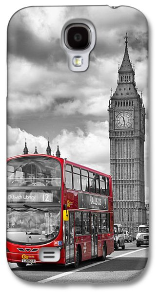 London - Houses Of Parliament And Red Bus Galaxy S4 Case