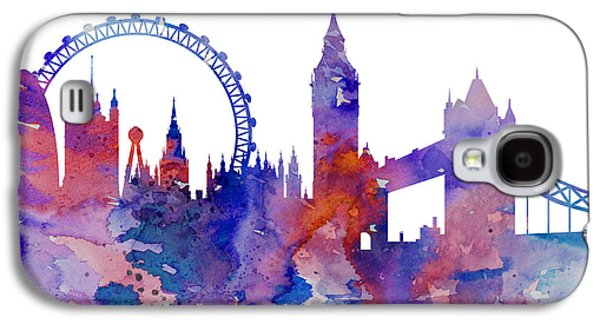 London Galaxy S4 Case by Watercolor Girl