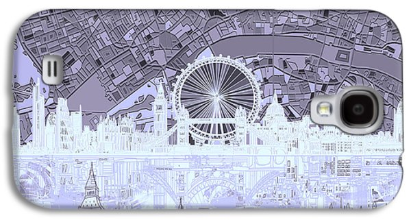 London Skyline Abstract 10 Galaxy S4 Case
