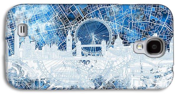 London Skyline Abstract 13 Galaxy S4 Case
